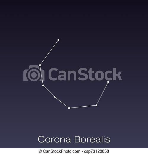 Corona Borealis Constellation As It Can Be Seen By The Eye