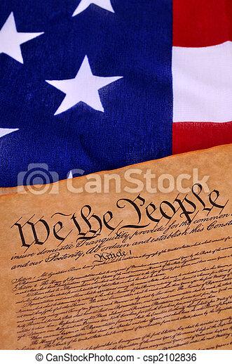 Constitución estadounidense - csp2102836
