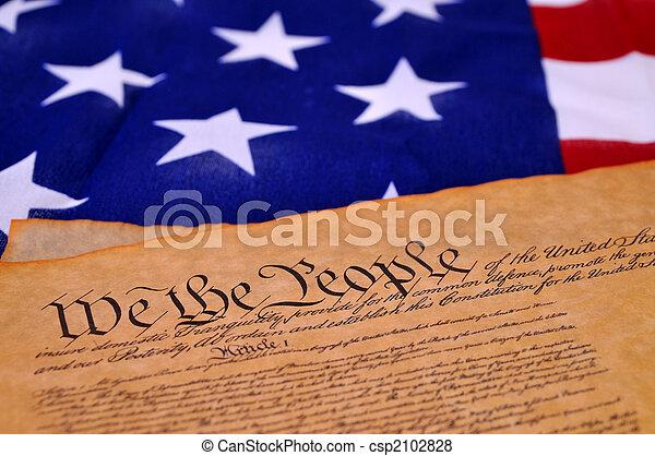 Constitución estadounidense - csp2102828