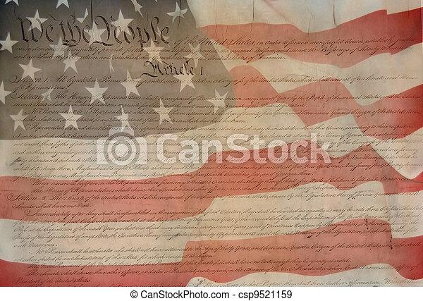 Constitution of USA  - csp9521159