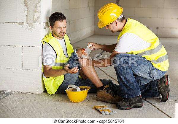 construção, acidente - csp15845764