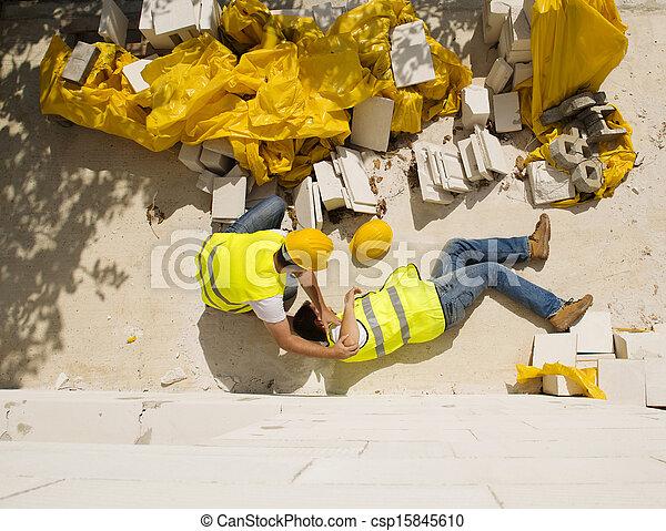 construção, acidente - csp15845610