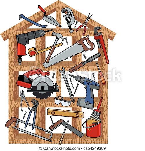 construção casa - csp4249309