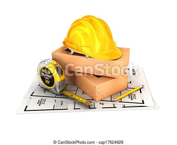 construção, conceito, 3d - csp17624929
