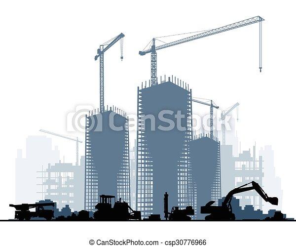 construção edifício, maquinaria - csp30776966