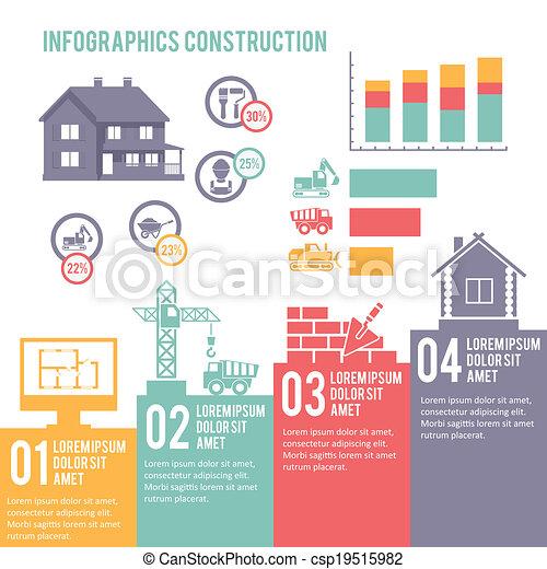 construção, infographic, jogo - csp19515982