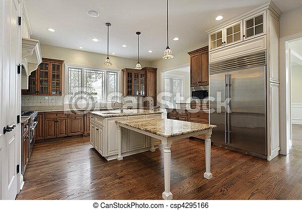 construção lar, cozinha, novo - csp4295166