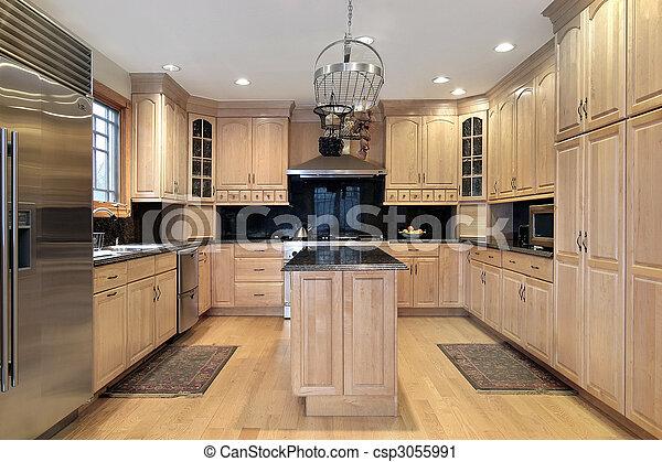construção lar, cozinha, novo - csp3055991