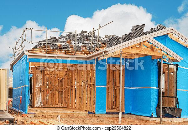 construção lar, currently, sob - csp23564822