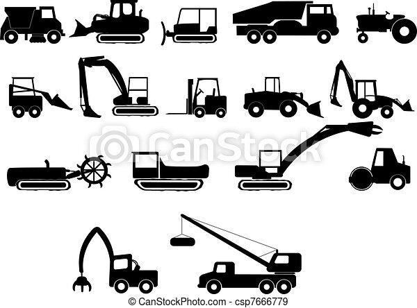 construção, pesado, máquinas - csp7666779