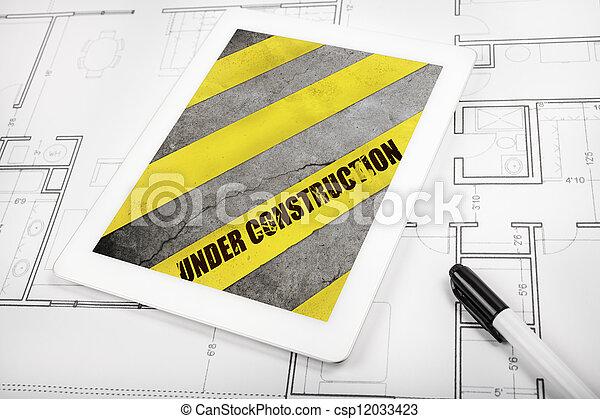 construção, sob - csp12033423