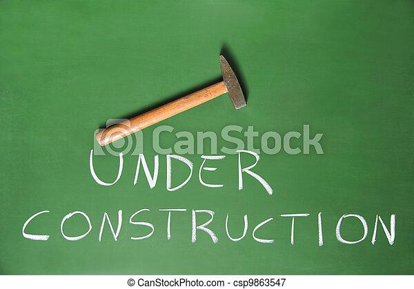 construção, sob - csp9863547