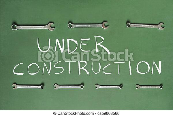 construção, sob - csp9863568