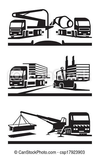 construção, transporte - csp17923903