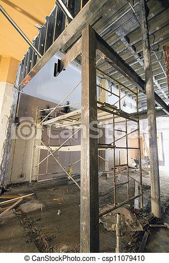 construcción, comercial, sitio, espacio - csp11079410