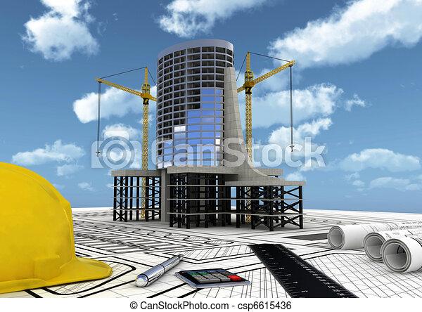 construcción edificio, comercial - csp6615436