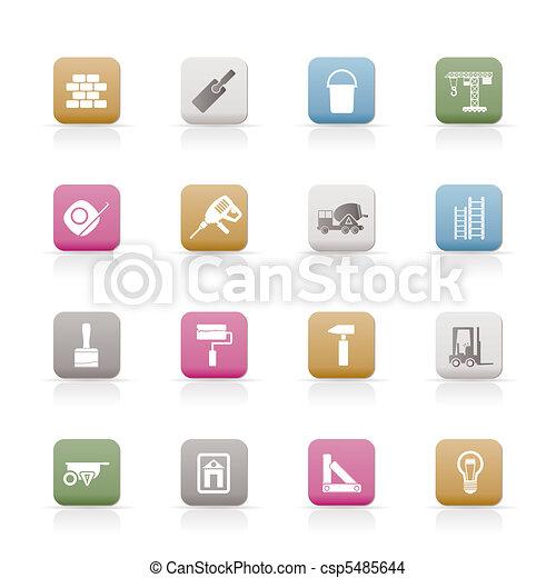 Construcciones y iconos de construcción - csp5485644