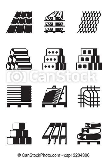 Construcci 243 N Edificio Materiales Edificio Vector