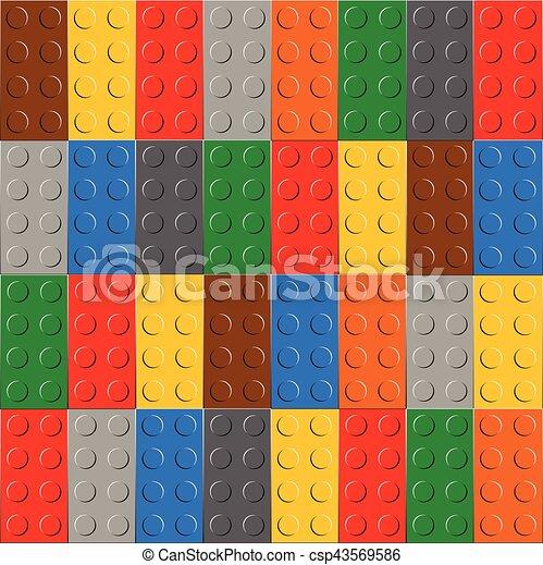 Antecedentes de bloque de construcción de plástico - csp43569586