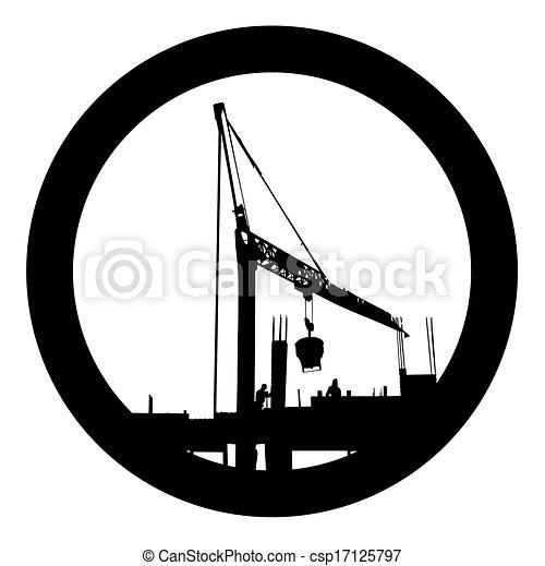 vector de símbolo de construcción - csp17125797