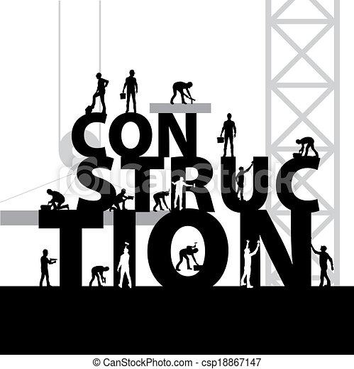 vector de símbolo de construcción - csp18867147
