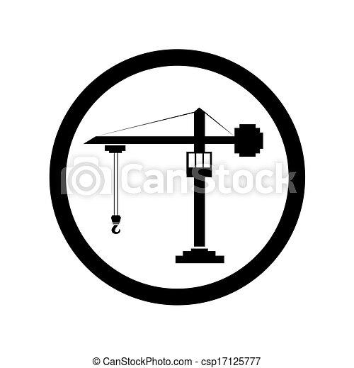 vector de símbolo de construcción - csp17125777