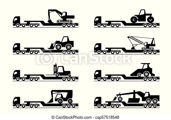 Transporte de maquinaria de construcción - csp57518548
