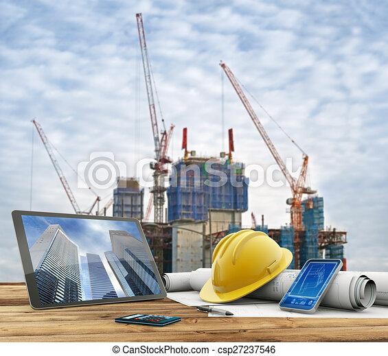 Una construcción urbana - csp27237546