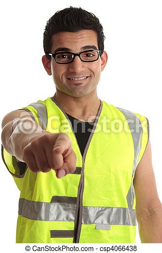 constructeur, ouvrier construction, vous, pointage - csp4066438