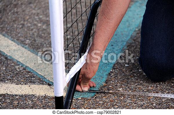 Constructing a Pickle Ball Court - csp79002821