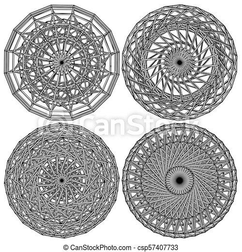 constructio..., 抽象的, 円 - csp57407733