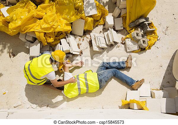Construction accident - csp15845573