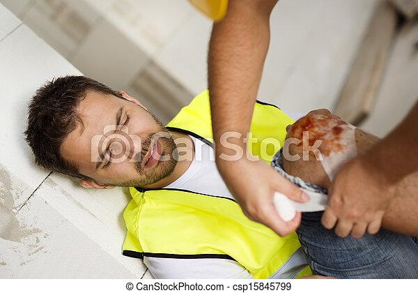Construction accident - csp15845799