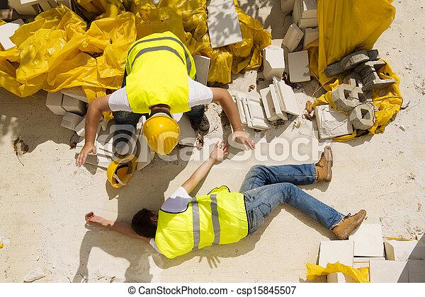 Construction accident - csp15845507