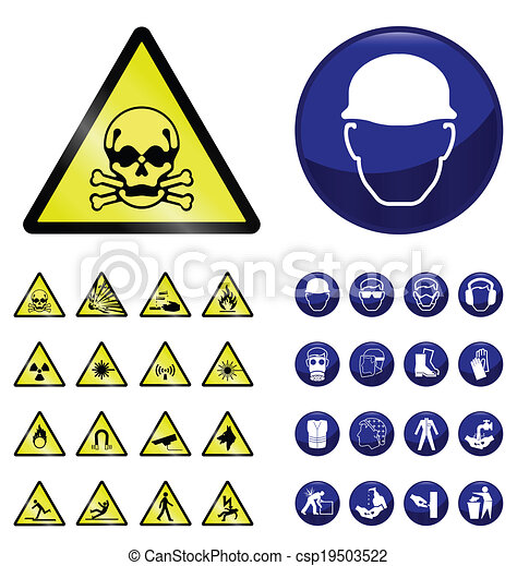 Construction and hazard signs - csp19503522