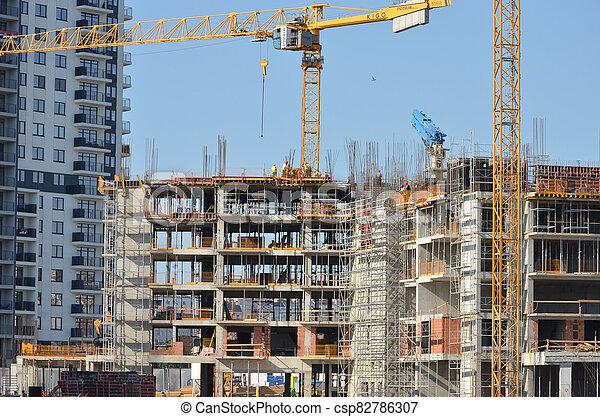 construction, bâtiment, sous - csp82786307