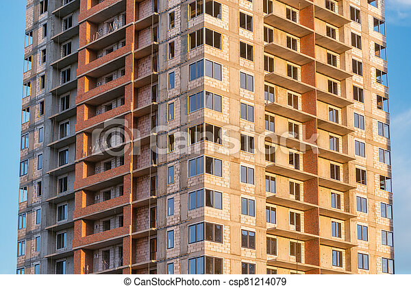 construction., bâtiment, vue, logement - csp81214079