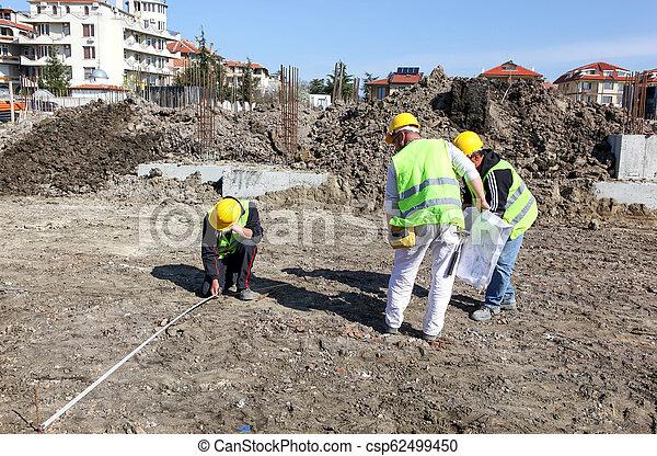 construction bâtiments, ouvrier, site - csp62499450