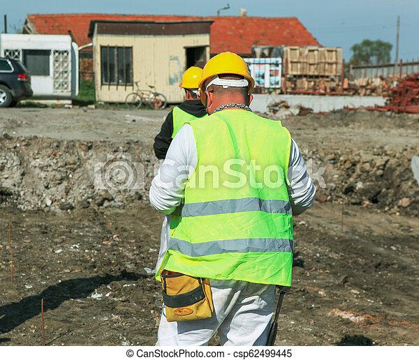 construction bâtiments, ouvrier, site - csp62499445