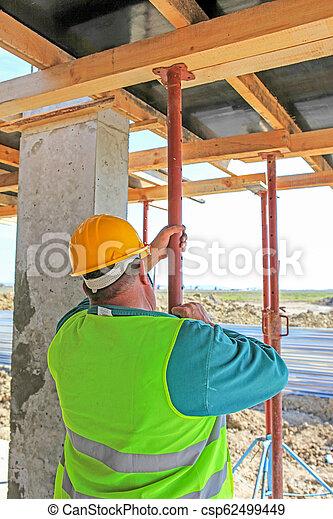 construction bâtiments, ouvrier, site - csp62499449