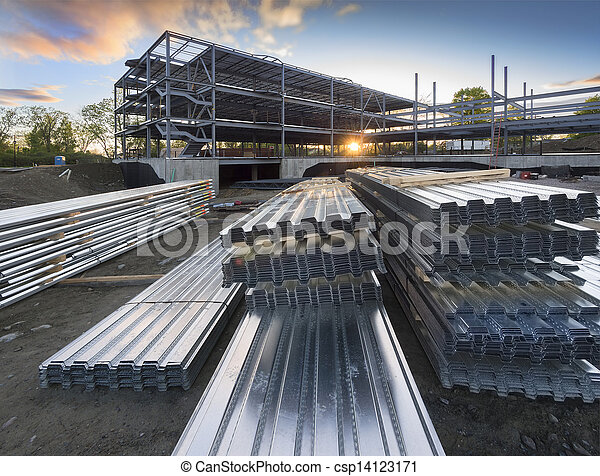 construction bâtiments, site - csp14123171