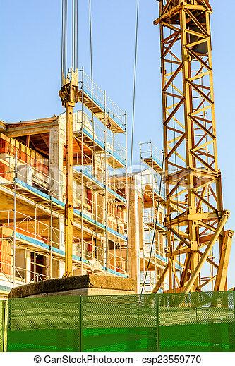 construction bâtiments, site - csp23559770