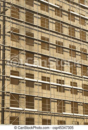 construction bâtiments, site, vertical, vue - csp45347305