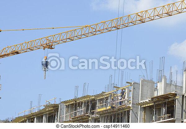 construction bâtiments, sous - csp14911460