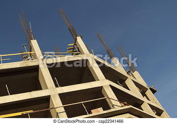 construction bâtiments, sous - csp22341466