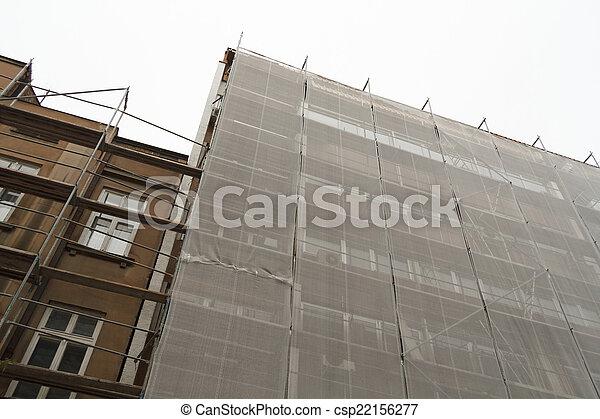 construction bâtiments, sous - csp22156277