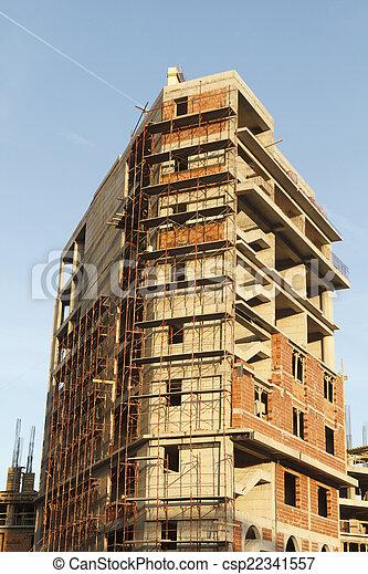 construction bâtiments, sous - csp22341557
