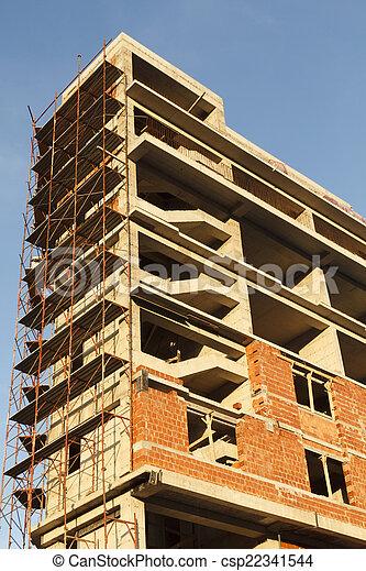 construction bâtiments, sous - csp22341544