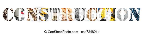 Construction banner - csp7348214