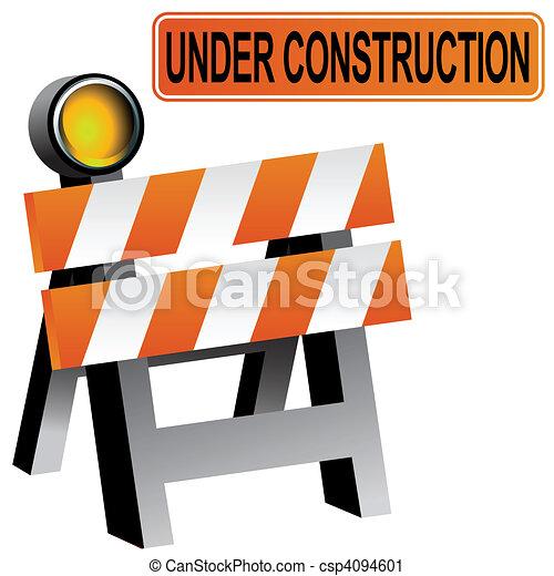 Construction Barricade - csp4094601